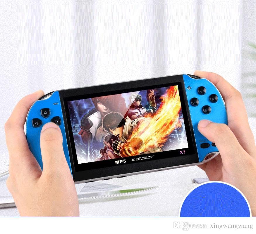 X7 لعبة فيديو لاعب 4.3 بوصة 8GB لGBA لعبة المحمولة وحدة التحكم ريترو عرض LCD لاعب لعبة للأطفال لا وظيفة أخذ الصورة