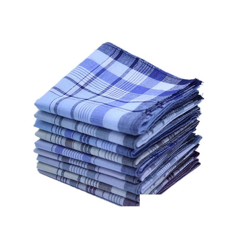 38*38cm stripe plaid business scarves suit hankies cotton casual women men pocket square handkerchief mouchoir homme