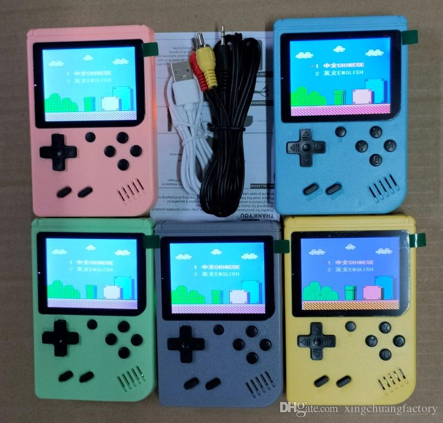 Portable Doubles Handheld Game Console Retro Video Game player 500 in 1 Games 8 Bit 3.0 Inch Colorful LCD Cradle with package