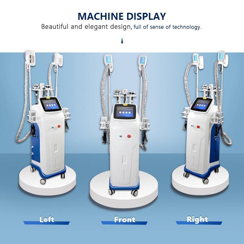 Снижение жира Cryo Sliume Machine Вакуумная терапия Устройство RF Лазерные липосакции Машины Повышение Веса Оборудование Криолиполиз