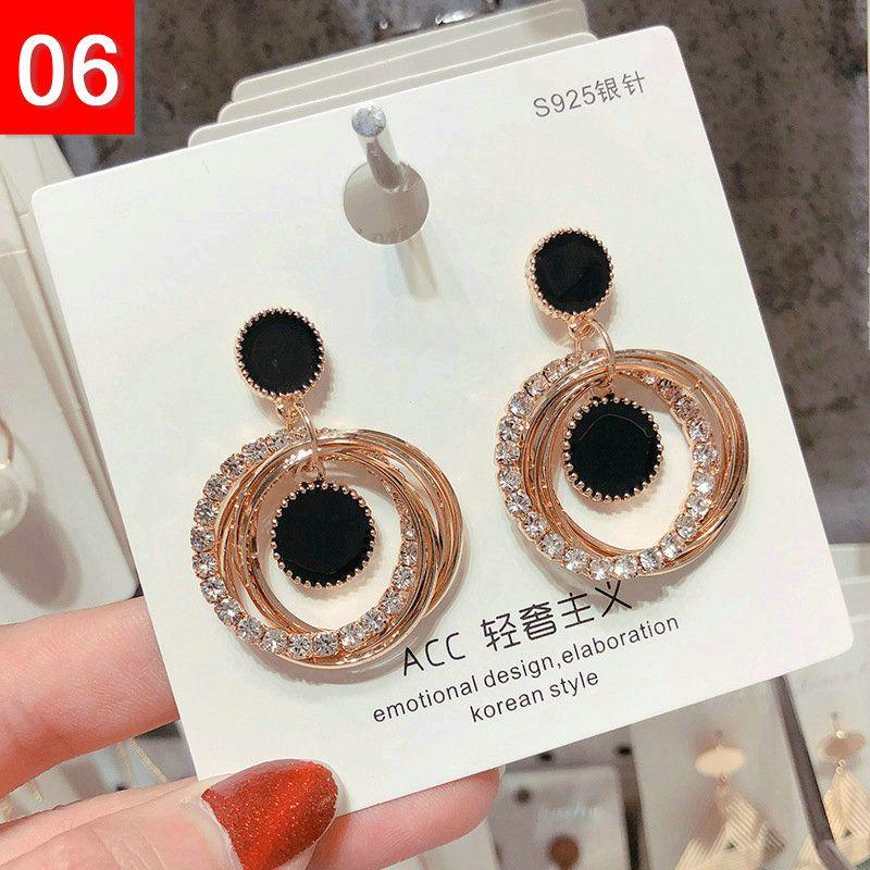 NEW Designer earrings Tassel Long Dangling Drop earrings Gold Silver Earrings quilling Crystal Bar Party Wedding Jewelry Mix DHL