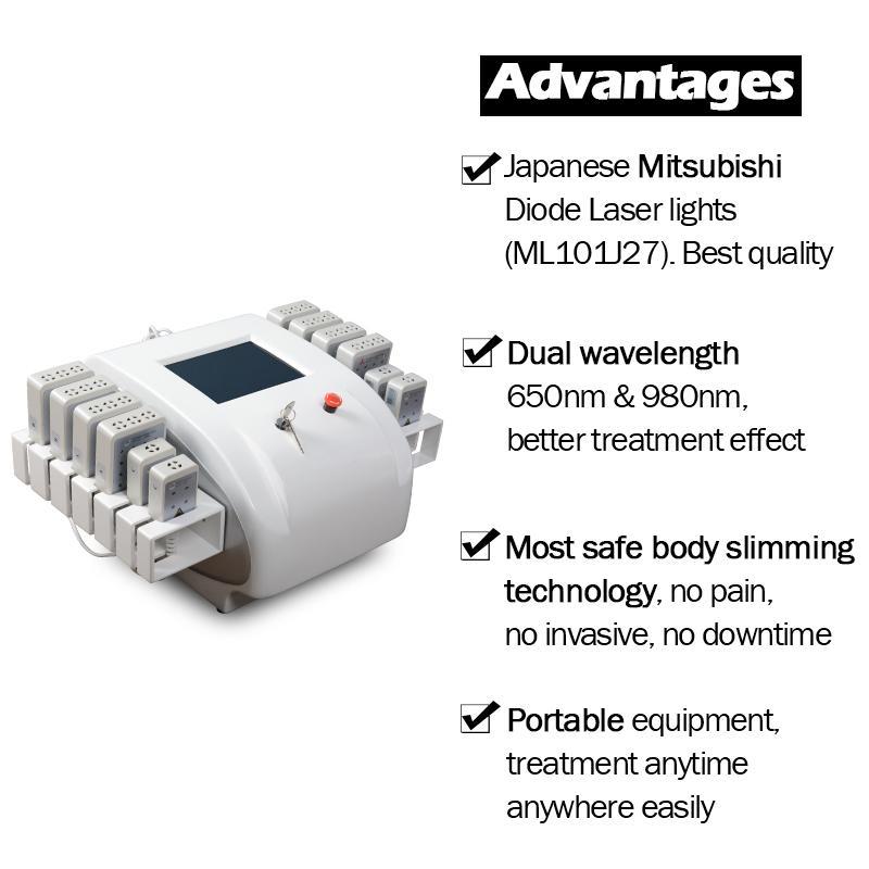 Lipo الليزر التخسيس آلة شفط الدهون آلات شفطية الجسم تشكيل الجسم سريع فقدان آلة الليزر الليزر آلة إزالة الدهون للبيع