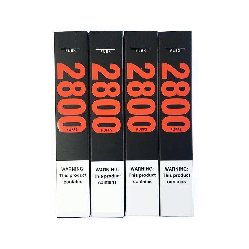 퍼프 플렉스 일회용 포드 디바이스 키트 전자 담배 1500mAh 배터리 10ml 포드 카트리지 Vape 2800 Bang Bar Plus XXL Max Kit 용 Puffs Vapor Pen