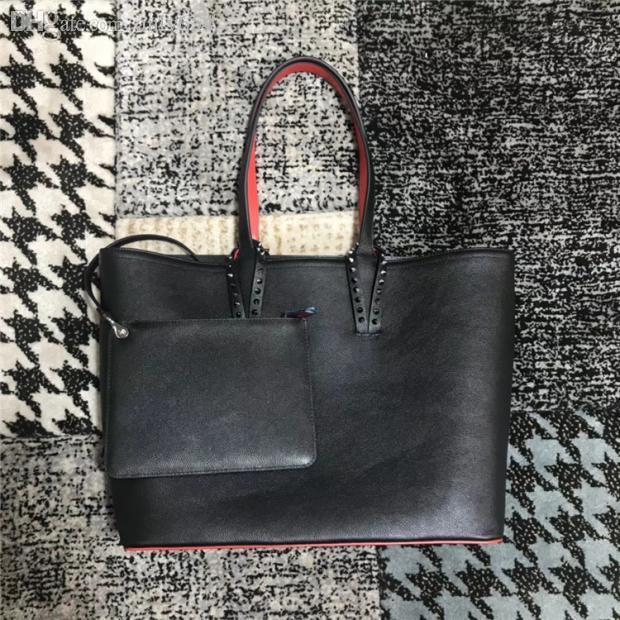 Borsa a spalla delle donne di modo Borsa a spalla in vera pelle Spikes Bow Crossbody Bags Tote Set Borsa Designer Borsa Shopping Bag