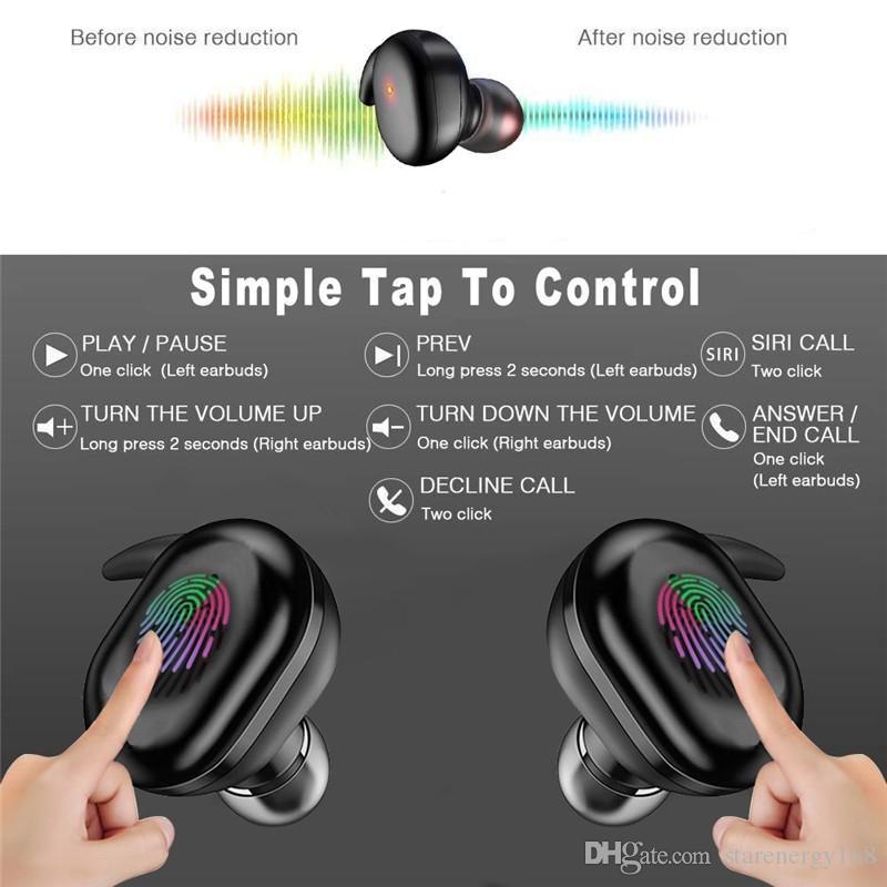 Y30 4 bluetooth 5.0 earphones Mini Wireless Earbuds Touch Control Sport in Ear Stereo Cordless Headset for cellphones headphones 168D