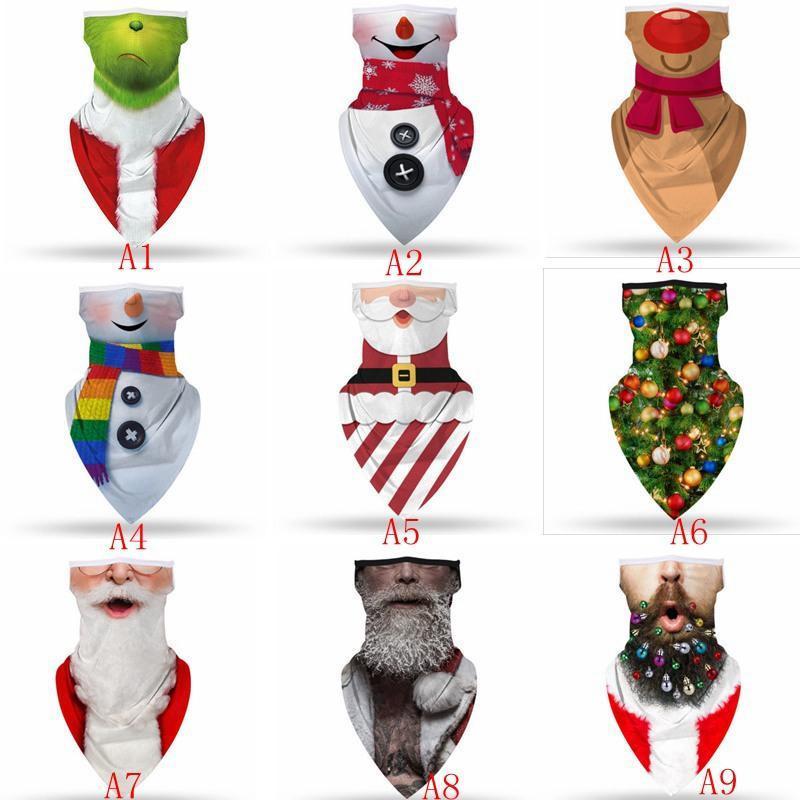 3D Druck Weihnachtsfeier Masken Gesicht Schild Schädel Multifunktions Zauberschal Turban Reitmaske Stirnband Bandanas 50 stücke T1i3091