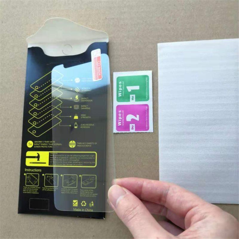 حامي الشاشة آيفون 12 ميني برو ماكس 11 XS xs ماكس 7 8 زائد الزجاج المقسى لسامسونج lg حامي فيلم مع ورقة مربع 24H الشحن