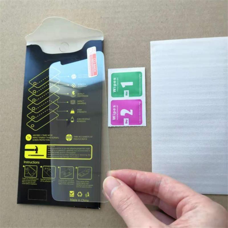 Ekran Koruyucu iphone 12 Mini Pro Max 11 XR XS Max 7 8 Artı Temperli Cam Samsung LG Koruyucu Film için Kağıt Kutusu 24h Nakliye