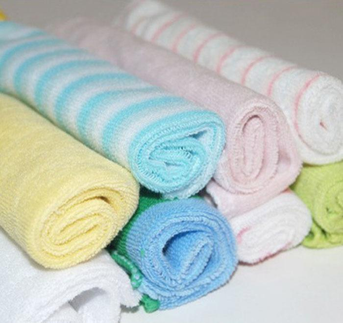 wholesale-8 x new baby cotton wipe wash cloth gift bulk sale towel