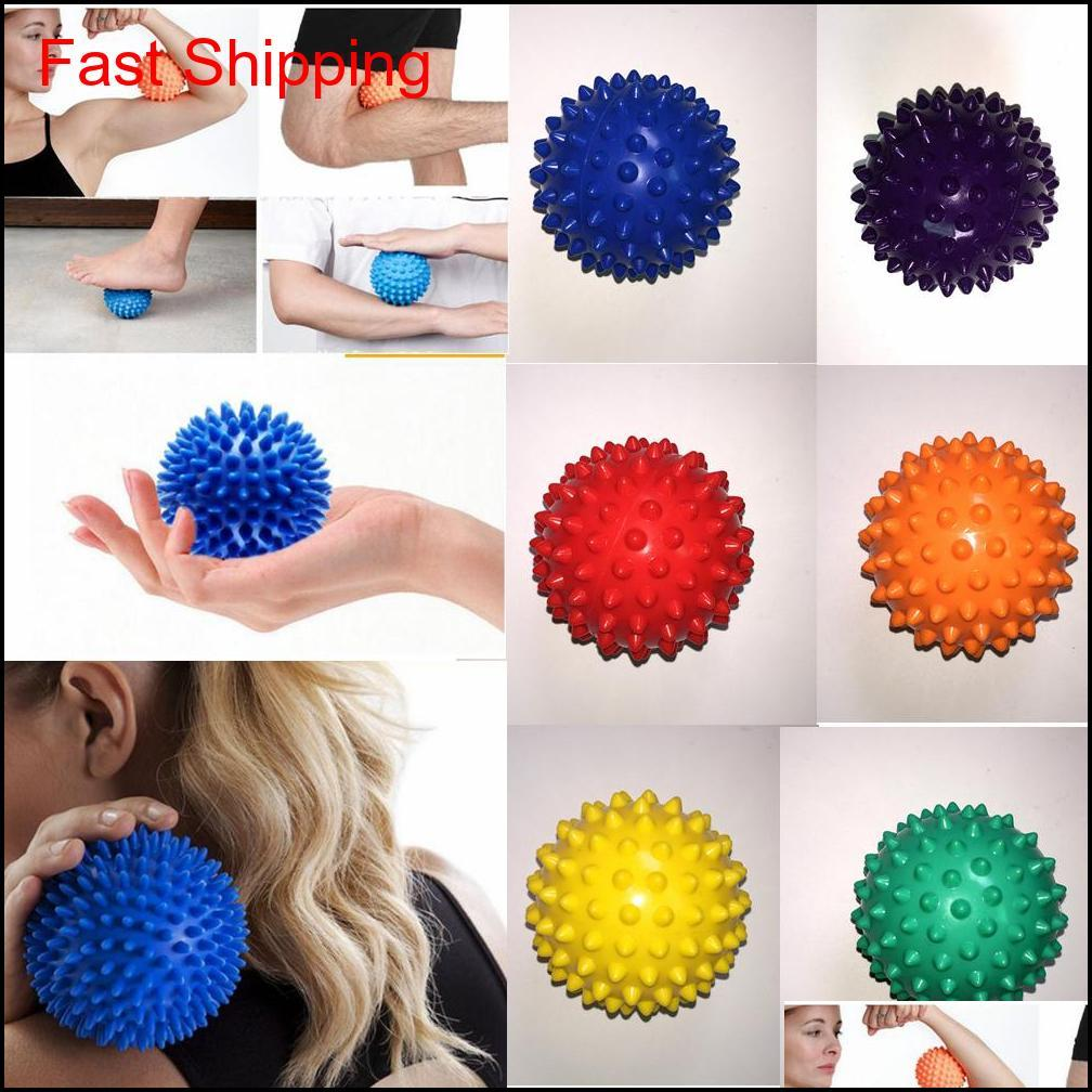 7Cm Foot Spiky Masball Cervical Vertebra Recovery Acupoint Trigger Point Muscle Relax Hand Pain Relief Therapy Hedgehog Ball N1Rlh Xrs Vnqnc