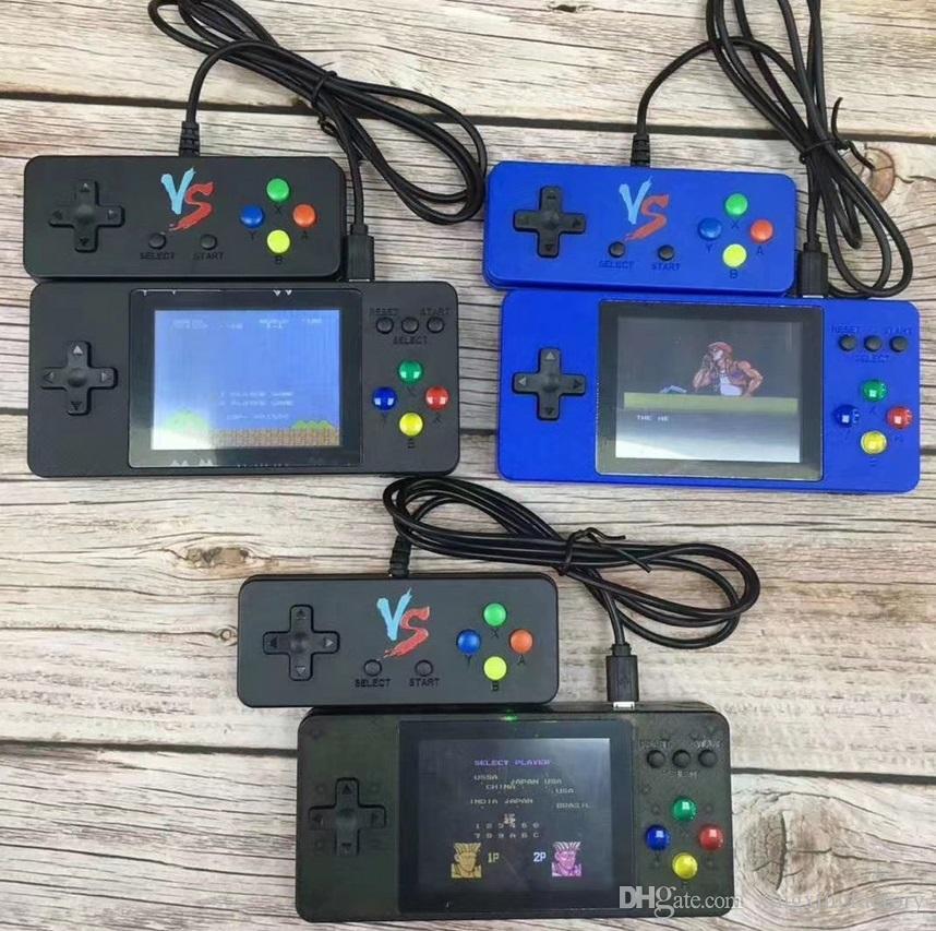 K8 Portable Двойные портативные телевизоры видеоигры консоли мини портативный портативный игровая коробка 500-в-1 аркада Play портативное игрока