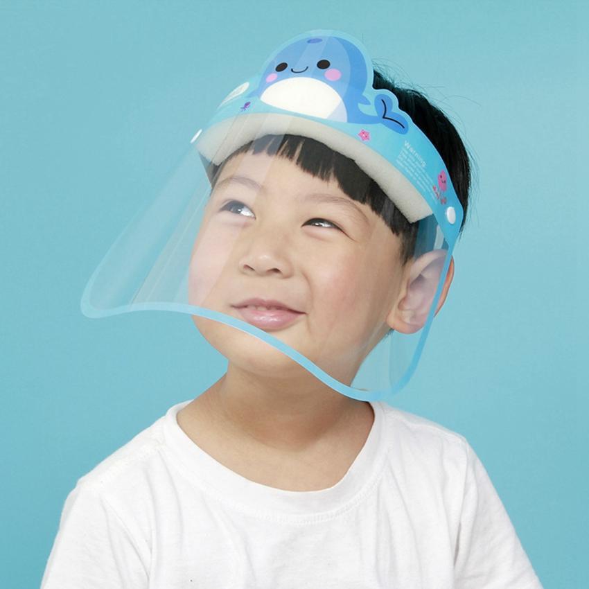 children cartoon full face design masks Kids Face Shield Safety Cover Reusable Full Protection Visor student use T3I51507