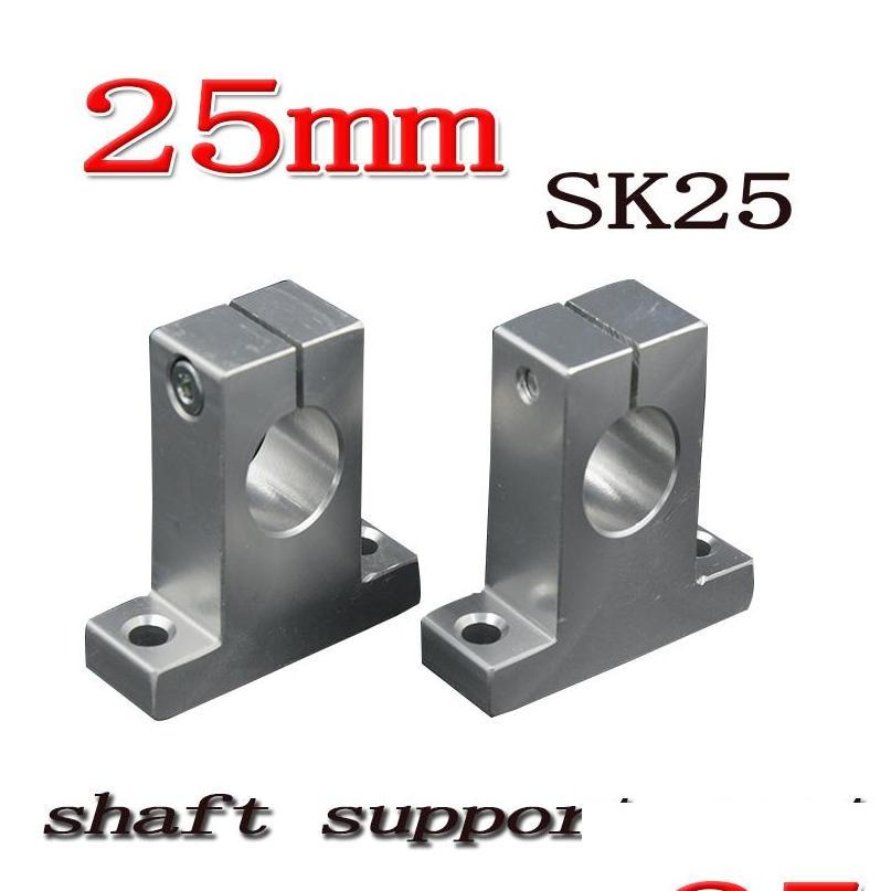 wholesale- sk25 sh25a 25mm linear shaft support 25mm linear rail shaft support xyz table cnc parts