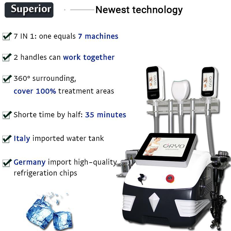 Cryolipolisis الدهون آلة تجميد بالموجات فوق الصوتية آلة التجويف cryolipolysis 360 درجة الدهون تجميد آلة فقدان الوزن ليزر ليبو
