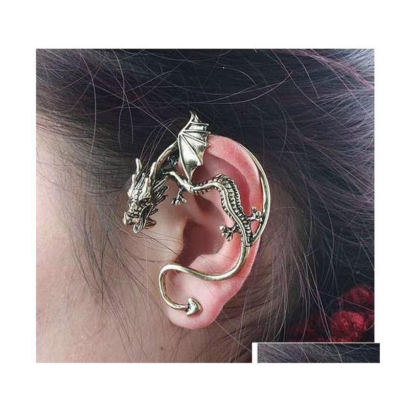 popular earrings gothic punk wind restoring ancient personality dragon attitudinal earring earrings