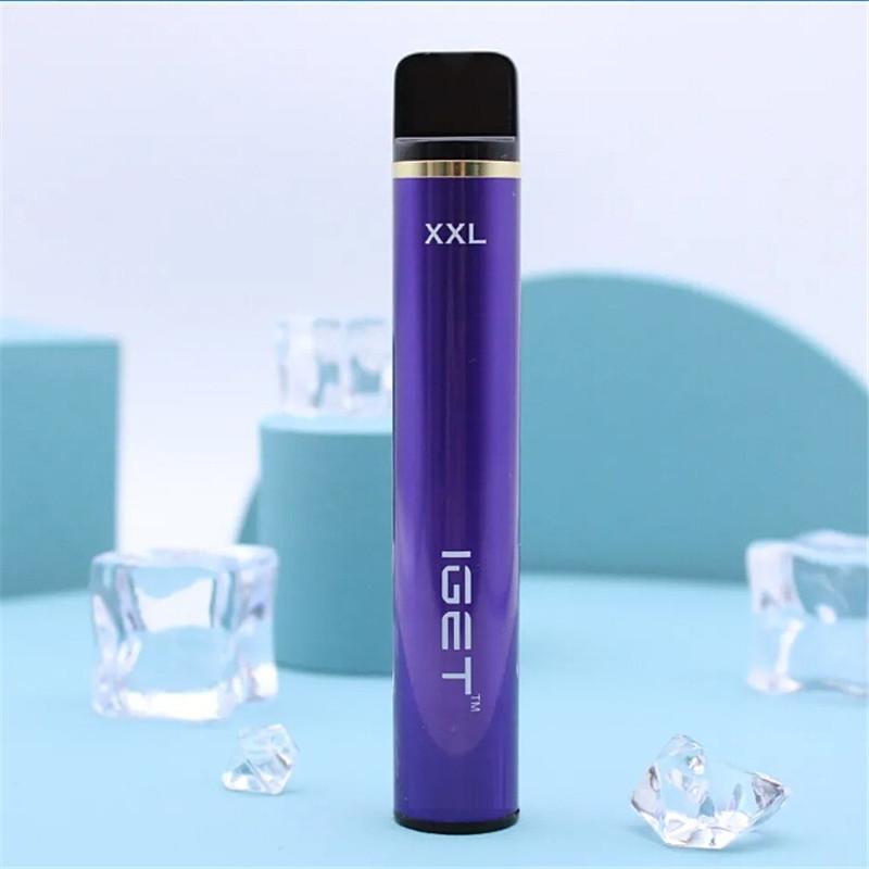 원래 IGET XXL 일회용 포드 장치 키트 1800 퍼프 950mAh 7ml Prefilled Vape Stick For Bang Shion Plus Max Haka 스위치 100 % 정통