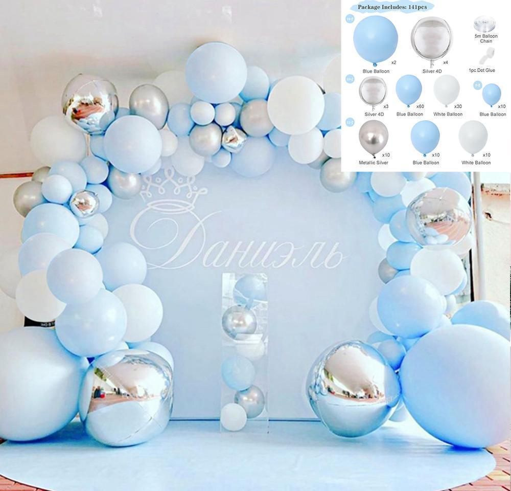 balloon chain kit oh baby shower boy or girl balloon arch kit balloon garland it my first birthday balloons set ballon