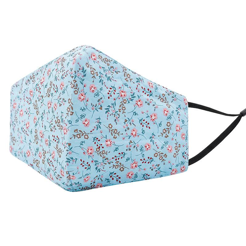 winter Warm mask dust and fog masks can be inserted filter pure cotton three-dimensional printed masks ZY1462