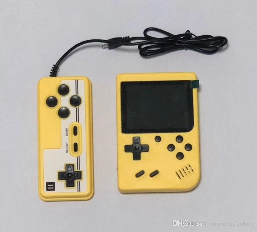 أفضل مصغرة محرقة المعكرون لعبة وحدة المعكرون 500 في 1 الرجعية لعبة فيديو وحدة التحكم 8 بت 3 بوصة الملونة LCD دعم اثنين من اللاعبين مع حزمة البيع بالتجزئة