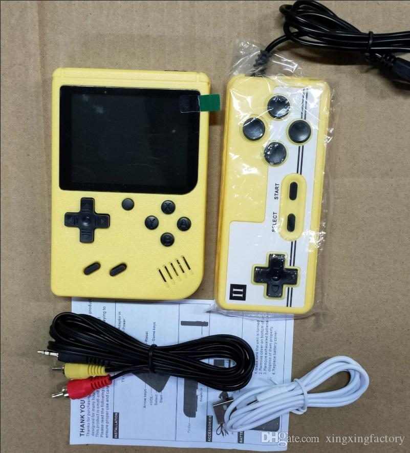 Doubles Handheld Game Console Retro Portable Video Game Console Can Store 800 in 1 Games 8 Bit 3.0 Inch Colorful LCD Cradle Design wholesale