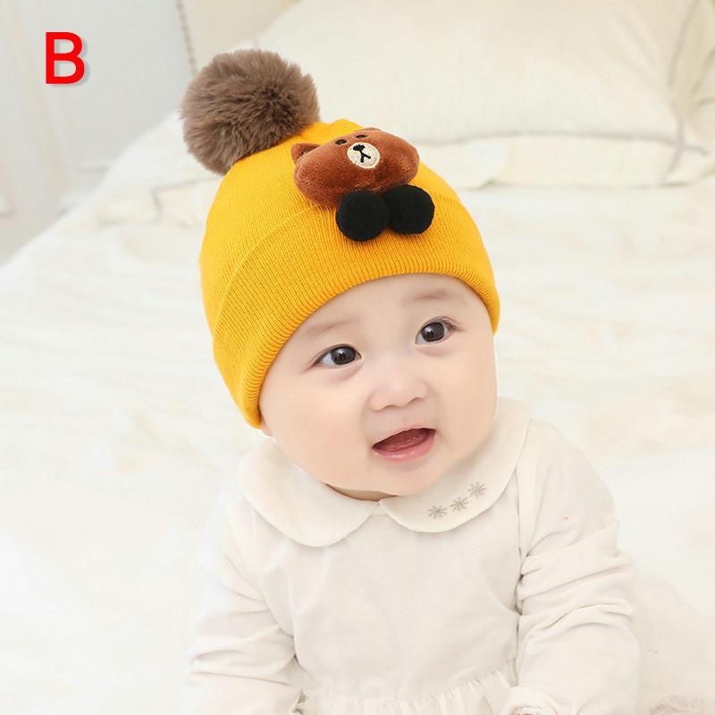 Children Hat Toddler Kids Baby Warm Winter Wool Hat Knit Beanie Neck warmers Baby Boys Girls Cap 3 months to 2 years old