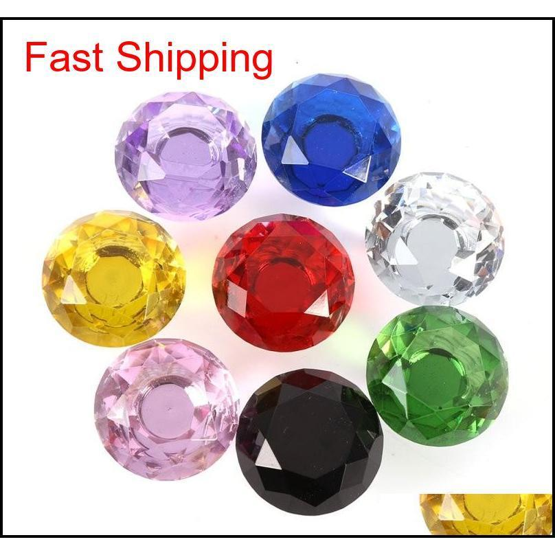 professional colorful 30mm diamond shape design crystal glass door knobs cupboard drawer cabinet wardrobe pull handle knobs