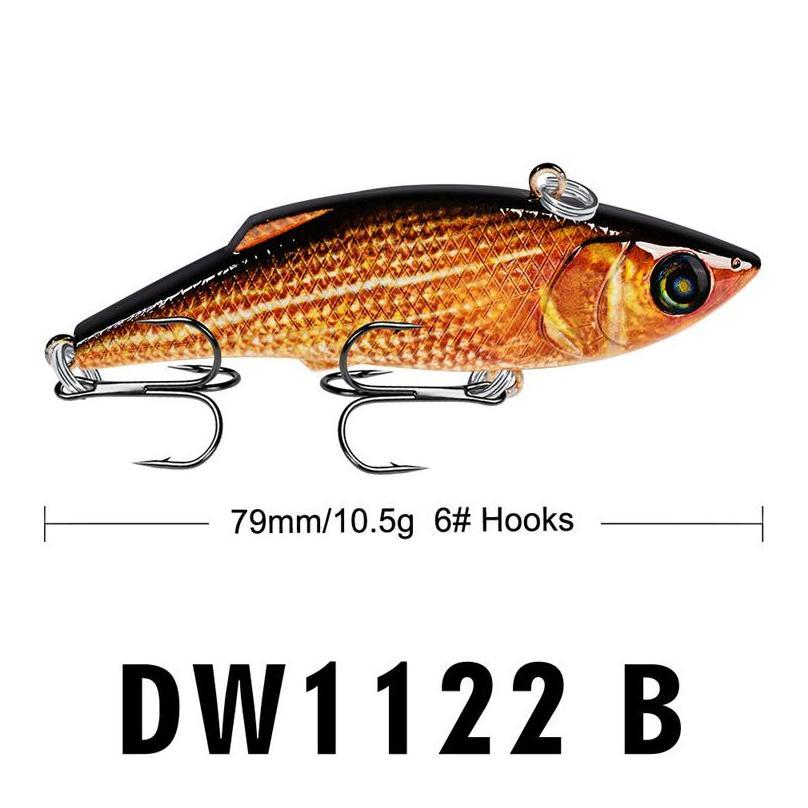 new bright color vib wobbler swimbaits lure 10.5g 7.9cm top water lipless fish bionic laser bait
