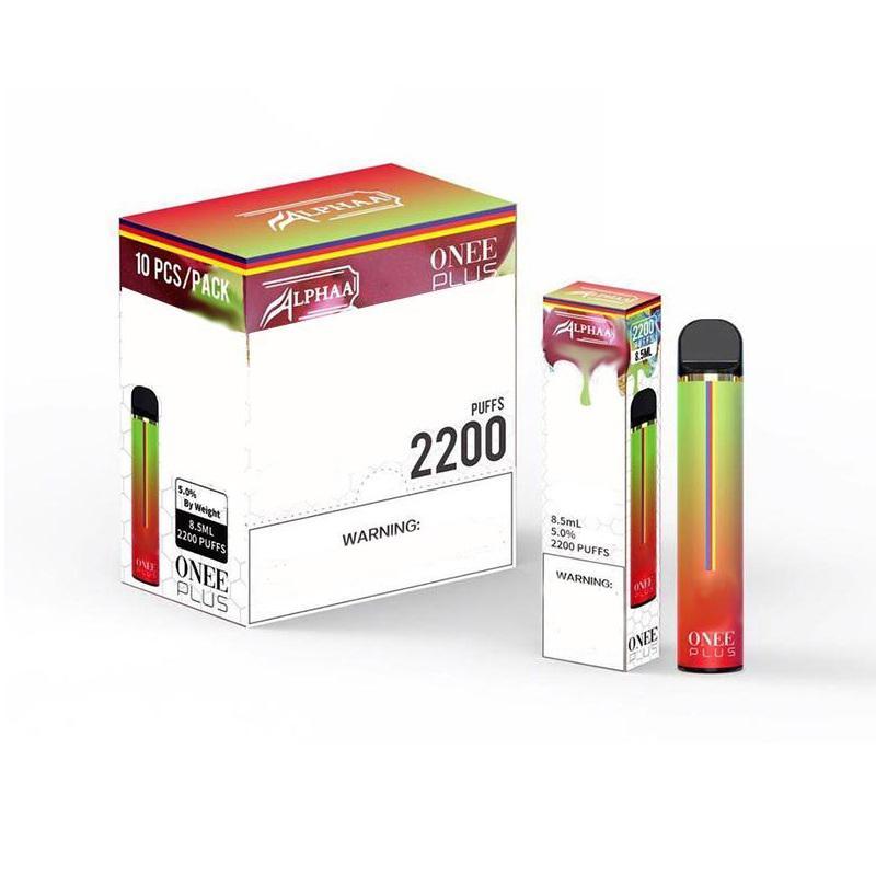 새로운 Alphaa Onee 스틱 플러스 일회용 장치 키트 1800 2200 퍼프 프리 빌딩 포드 1100mAh vape 배터리 Posh Plus Bang XL Flow XXL Max Flex