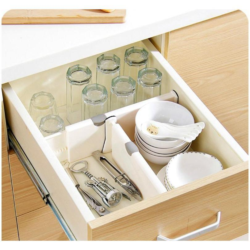 2 pack expandable cabinet drawer divider 10 cm kitchen storage and organization