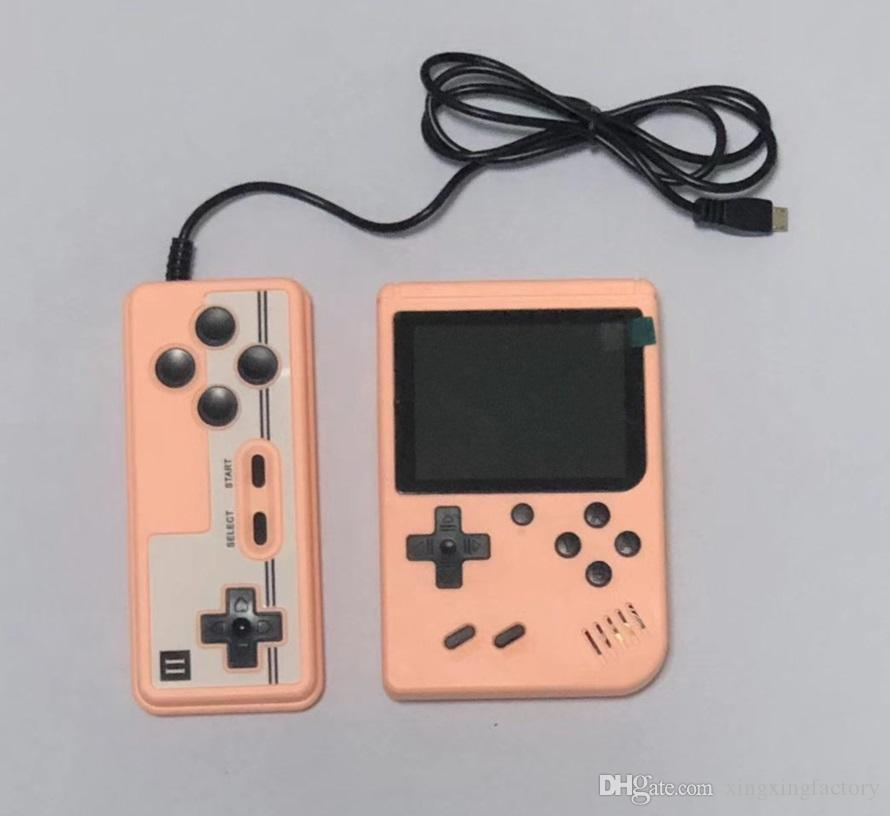 Best Mini Handheld Macaron Game Console 500 in 1 Retro Video Game Console 8 Bit 3.0 Inch Colorful LCD Support Two Players