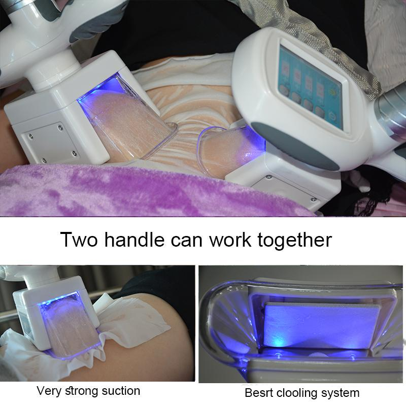 2021 cryolipolysis rf cavitation machine 3 cryo handles forzen fat vacuum therapy machine spa salon use