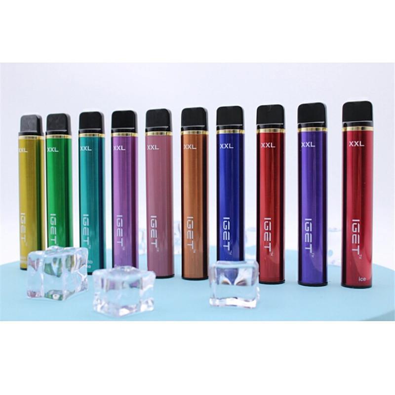 100% Оригинал Iget XXL Одноразовые устройства для устройств устройств POD 1800Установок 7 мл 950 мАч Vape Stick Peen Закрытый ECIG Система 5% Savor Starter Kit DHL бесплатно