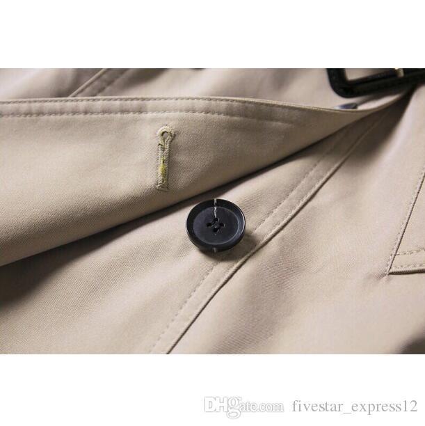 Nueva moda caliente Inglaterra Media Largo Estilo de invierno Trench Abrigo de manga larga Doble Breasted Slim Fit Outwear para las mujeres Tamaño S-XXL