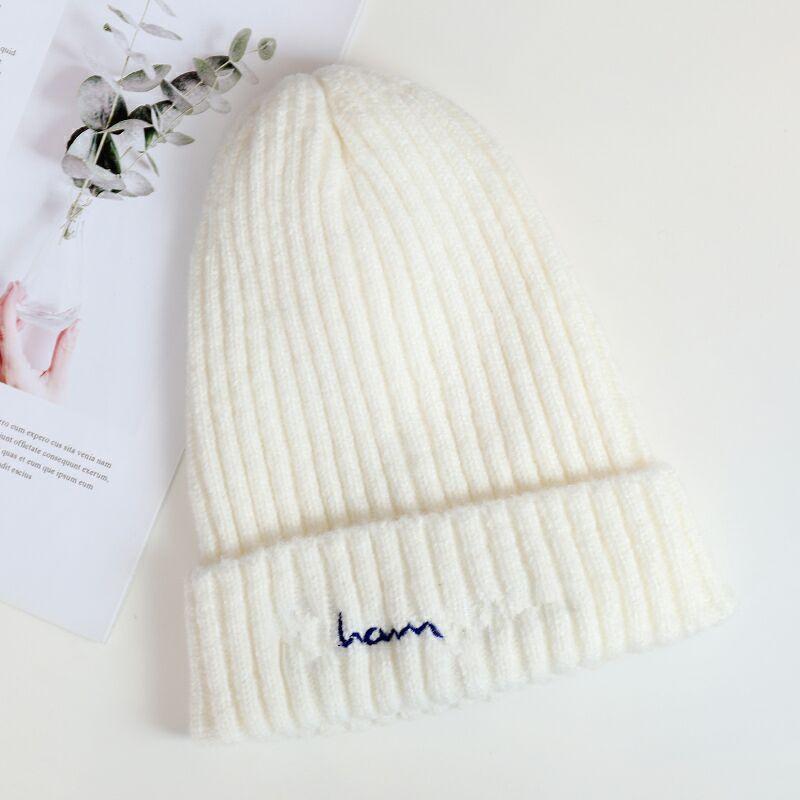 Klassischer Brief Frauen Mützen Mädchen Gestrickte Hüte Winter Schädel Caps Design Häkeln Hut Outdoor Warme Strickkappe Ohr Muff Trendy Beanie 12 Farbe