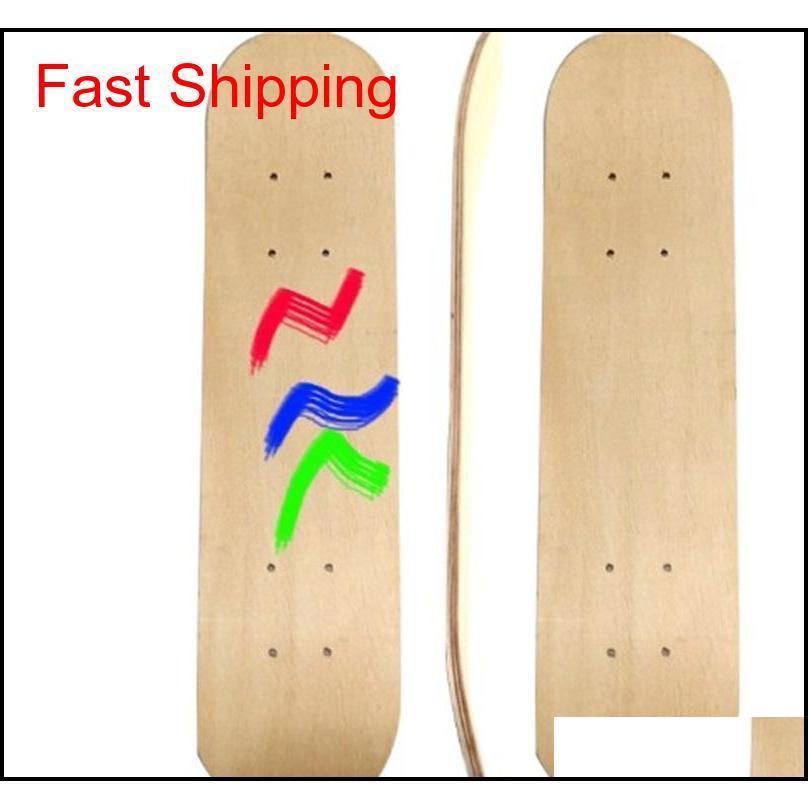 skateboard deck diy hand painted skate longboard 7floors hoverboard 7floors wooden scooters board plank kids child drawing 16jl c2