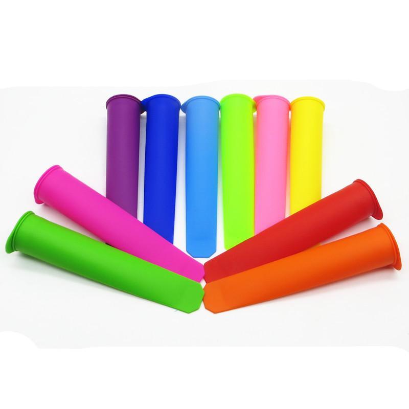 Eiscreme-Form 10 Farben Optionales Silikon-Stiel mit Deckel DIY Eiscremacher Push-up Küchenwerkzeuge DHL frei