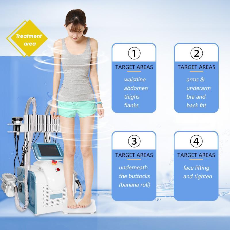 2022 Cryolipolysis portátil gordura de gordura máquina de emagrecimento a vácuo Redução de adiposo crioterapia Cryo Perda de peso Equipamento LLLT LIPO Laser Spa Spa Use