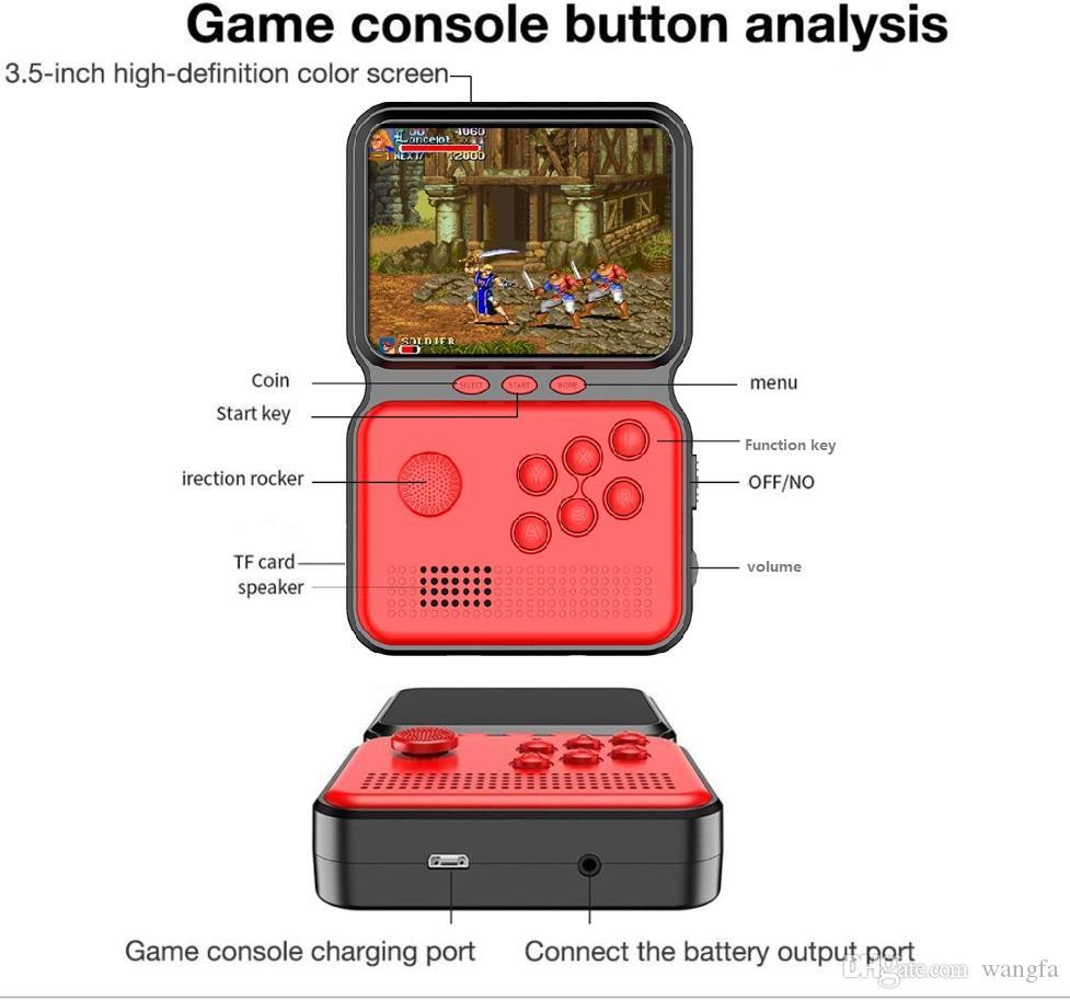M3 Küçük El Oyun Denetleyicisi Taşınabilir El Oyun Konsolu Nostaljik Arcade Yükseltme Bulit-900-in Retro 16 Bit Video Oyunları
