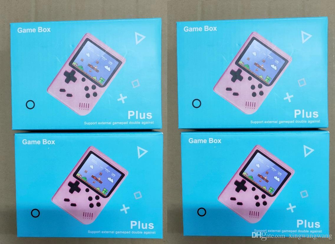 500 في 1 لعبة الرجعية لعبة وحدة 3 بوصة مصغرة التلفزيون المحمولة الرجعية fc لعبة آلة وحدة مدمجة في 500 8 بت