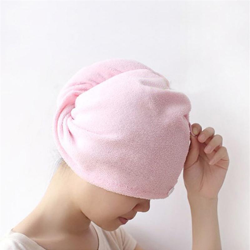 Serviette à cheveux secs Microfibre Sèche cheveux secs doux confortables Casquettes de bain de dame confortables envelopper individuellement capuchon de douche rapide t1i3100