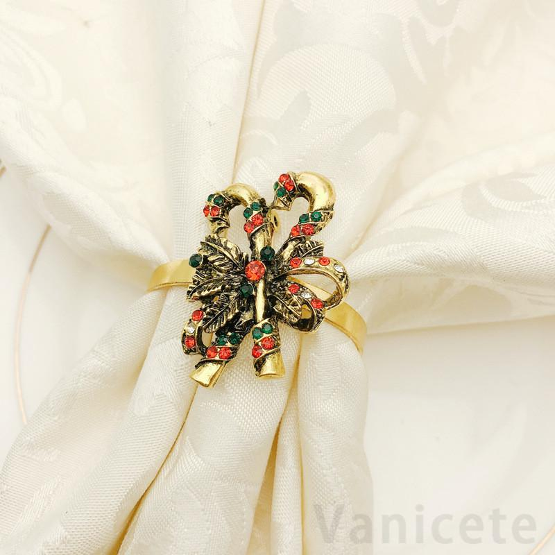Christmas Napkin Rings Napkin Holders For Dinners Party Hotel Wedding Table Decoration Supplies Napkin Buckle T1I3453