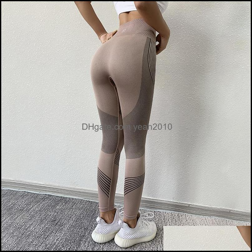 Quick Dry Yoga Outfit Lift The Hip Fitness Sportswear Outdoors Athletic Running Sweatpants Breathable High Elasticity Leggings