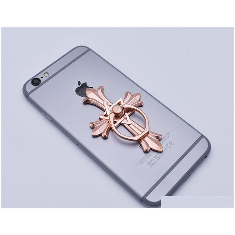 360 degree cross finger ring holder mount stand cell phone holder for samsung android phone