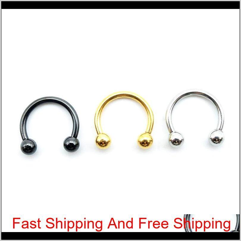 newest nose rings stainlessq steel body piercing jewelry fashion jewelry gift fake nose ring for women