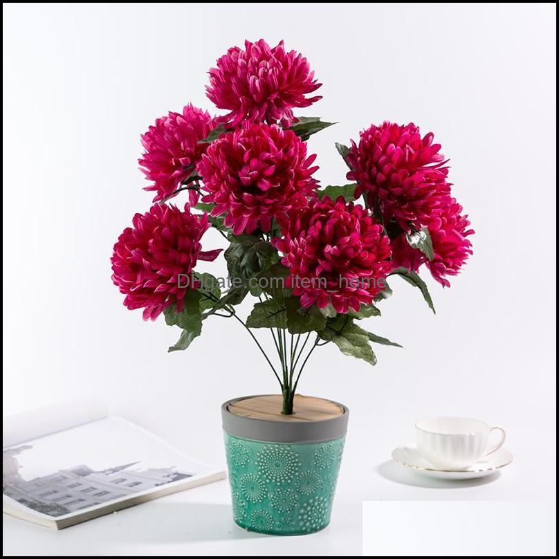 48cm large Heads of chrysanthemum High-quality Slik bouquet DIY wedding flower bride hand flower decoration Room decortion
