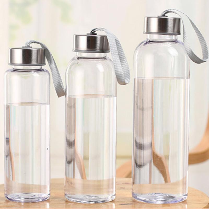 300-400-500ml Utomhussporter Bärbara Vattenflaskor Transparent Rundläcksäker resor som bär vattenflaska Studen Drinkware DHL