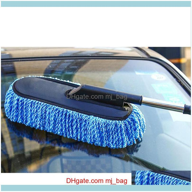 Car Wash Brush Large Microfiber Telescoping Car Wash Body Duster Brush Dirt Dust Mop Cleaning Tool Dusting Mops Dusters Wizard1