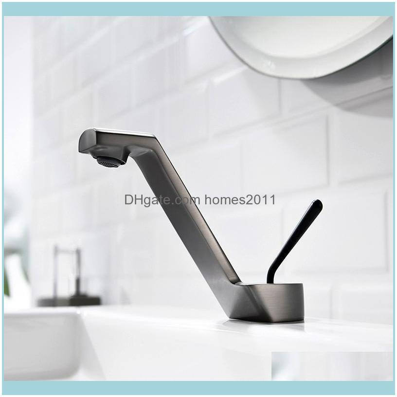 Bathroom Sink Faucets Basin Faucet Black Brass Mixer Tap Brushed Gold/Rose Gold/Chrome Wash And Cold Brush Gold
