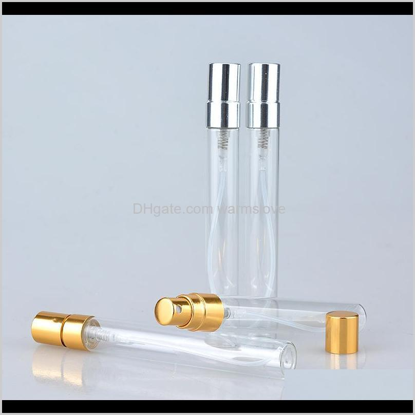 10ml aluminum glass perfume sprayer perfume bottle travel portable spray bottle empty refilable cosmetic containers sample vials 13 l2