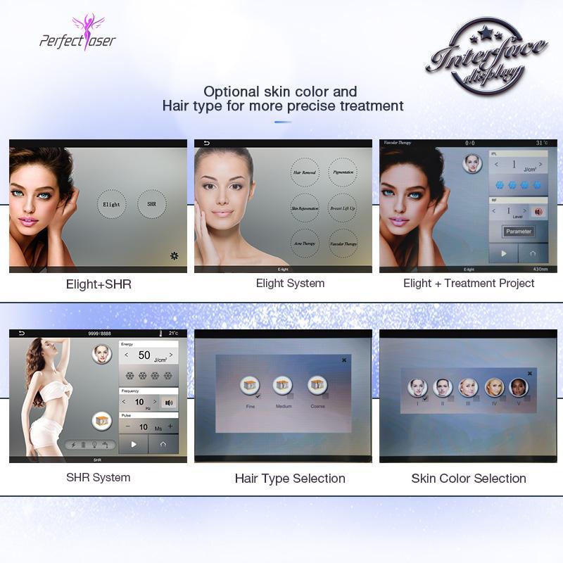 Gran promoción de la máquina de depilación láser de IPL para uso del hogar SHR Beauty Care Equipment Spa Salon dispositivo